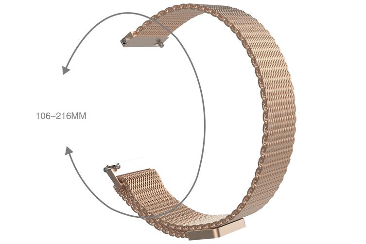 Stainless Steel Mesh Strap for Kogan M2 Smart Watch (Gold)