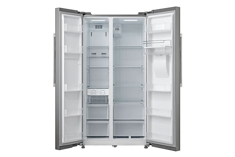 Kogan 584L Side by Side Fridge with Water Dispenser - Stainless Steel