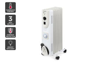 Kogan Premium 1500W 7Fin Oil Heater with Timer