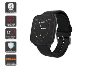 Kogan Pulse+ Wellbeing Smart Watch (Black)