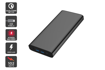 Kogan 26800 mAh Power Bank Pro (102W) with PD and QC 3.0 (Black)