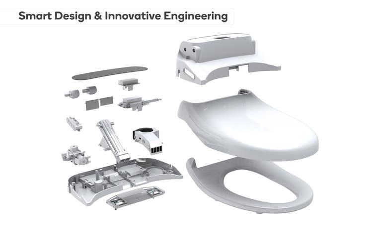 Kogan Premium Smart Wash & Dry Remote Control Electric Bidet Toilet Seat