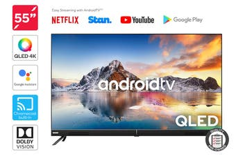 "Kogan QLED 55"" Smart HDR 4K TV Android TV™ (Signature Series, XT9510) Preowned"
