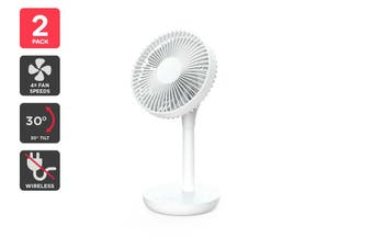 Kogan Rechargeable Mini Desktop Fan (2 Pack)