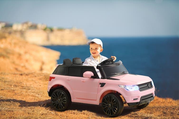 Kids Range Rover-Inspired Ride-On Car (Pink)