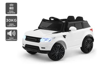 Kids Range Rover-Inspired Ride-On Car (White)