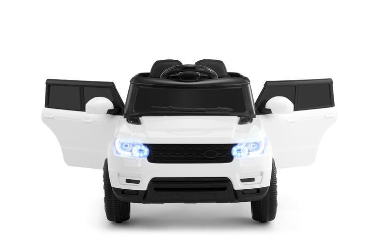 Kids Range Rover-Inspired Ride-On Car (White)