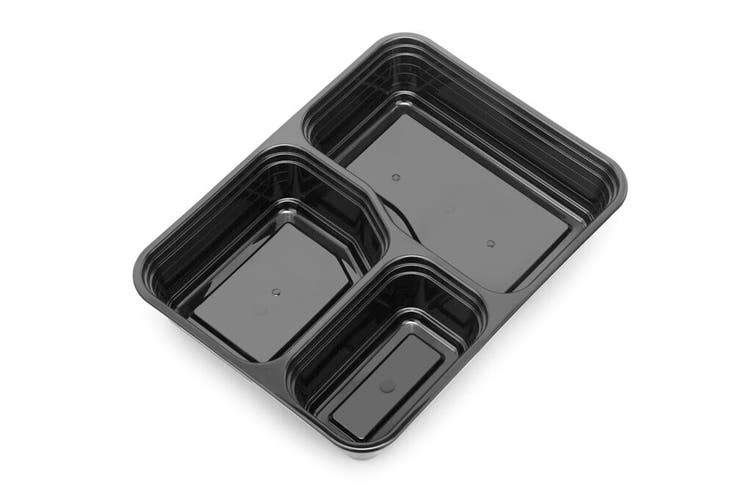 3-Compartment Reusable Food Storage Container (20 Pack)