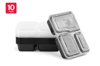 3-Compartment Reusable Food Storage Container