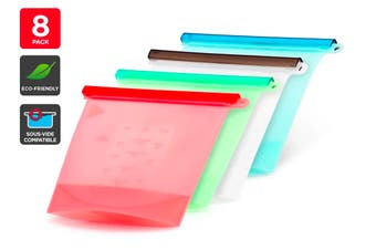 Ovela Silicone Eco-Friendly Zip Bags (8 Pack)