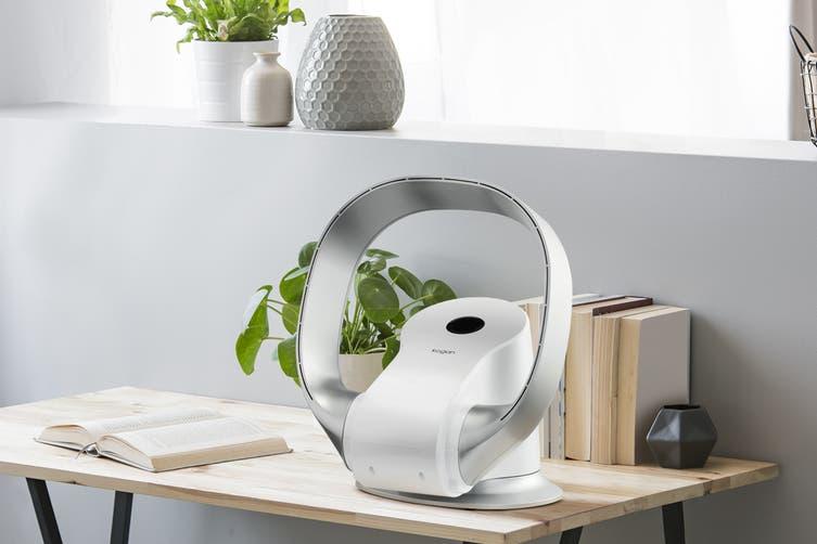 Kogan SmarterHome™ Bladeless DC Motor Turbo Smart Fan (Silver)