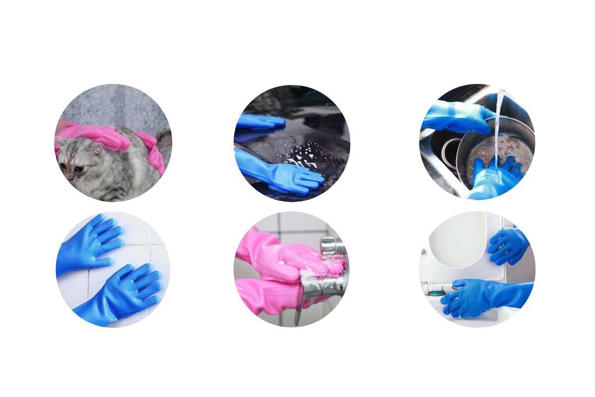 Kogan Silicone Scrubber Gloves