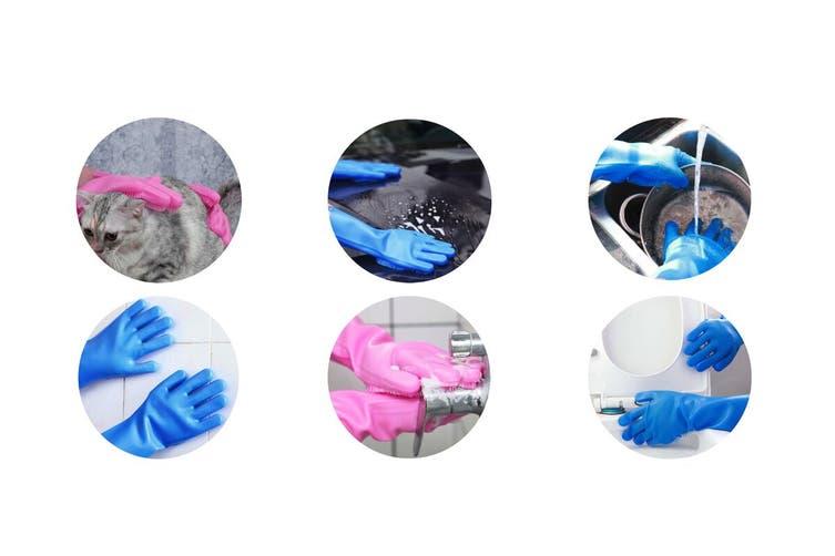 Kogan Silicone Scrubber Gloves (2 Pairs)
