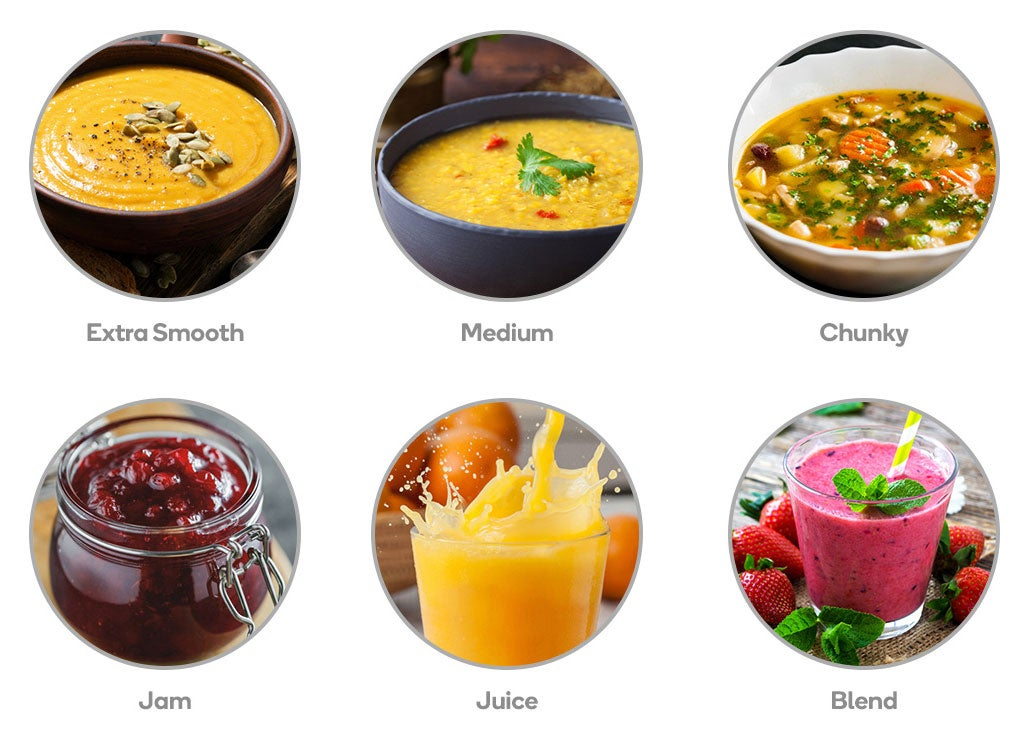 Soup, Jam, Juice, Smoothie