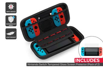 Nintendo Switch Carry Case + Screen Protector (2 Pack) Combo
