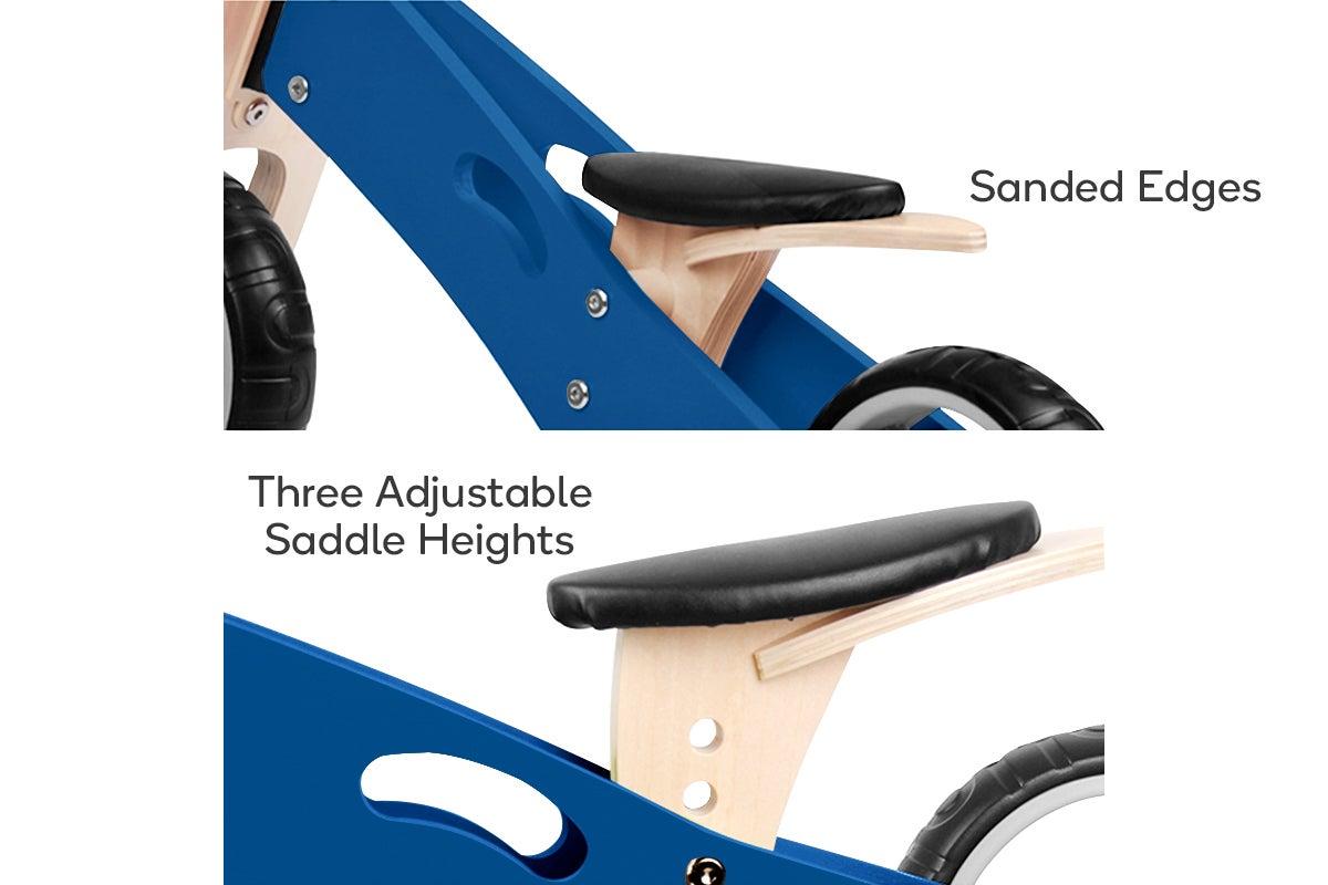 Sanded Edges, Three Adjustable Saddle Heights