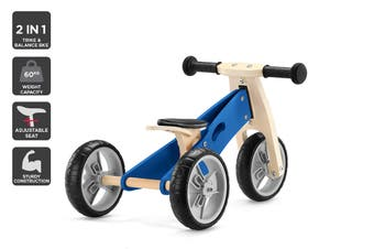 2-in-1 Trike & Balance Bike (Blue)