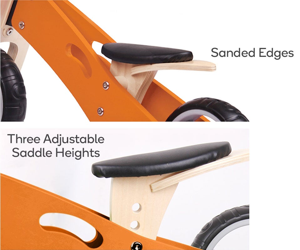Sanded Edges, Three Adjustable Saddle Heights