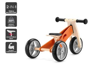 2-in-1 Trike & Balance Bike (Tangerine)