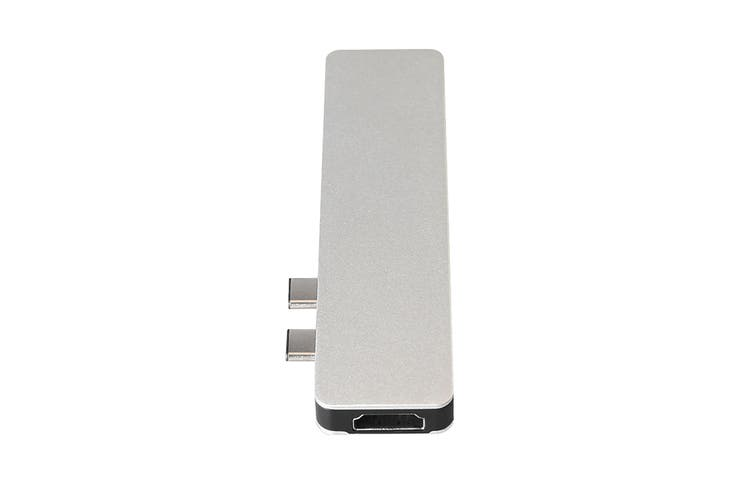 Kogan 7-in-1 Type-C Pass-Through Hub with 4K 30Hz HDMI (Silver)