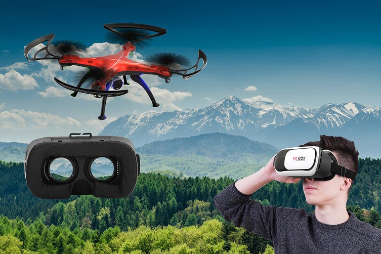 Viper-X Drone with VR Headset