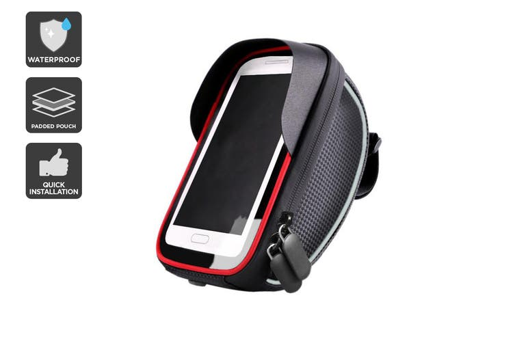Waterproof Handlebar Mounted Bicycle Phone Holder & Pouch