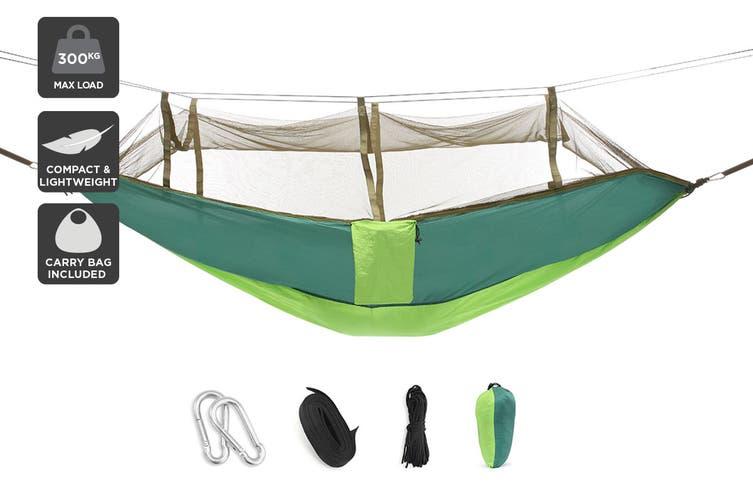 Komodo Ultra-light Hammock with Mosquito Net (Green)