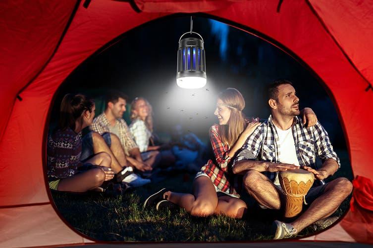 Komodo USB Solar Rechargeable Portable Mosquito Zapper Lantern