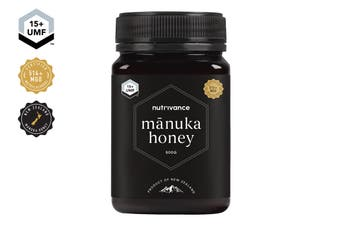 Manuka Honey UMF™ 15+ (500g, Nutrivance, Made In New Zealand)