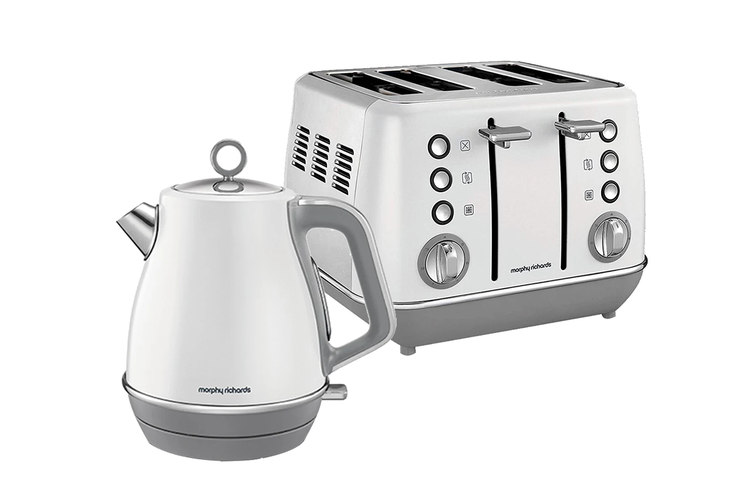 Morphy Richards Evoke Toaster & Kettle Pack - White (104409-240109)