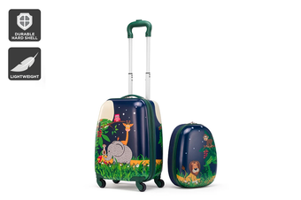 Kids Carry-On Luggage Set (Jungle)