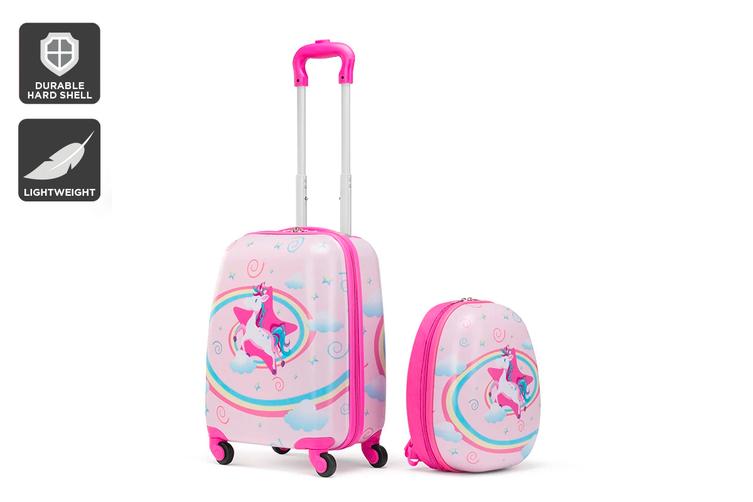 Kids Carry-On Luggage Set (Unicorn)