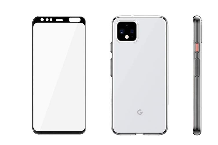 Google Pixel 4 XL Accessory Pack (Thin Case + Tempered Glass Screen Protector)