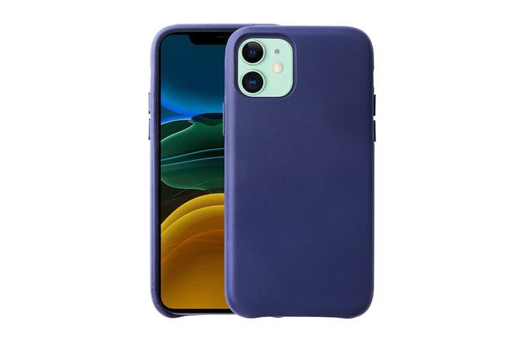 iPhone 11 Premium Leather Case (Navy)