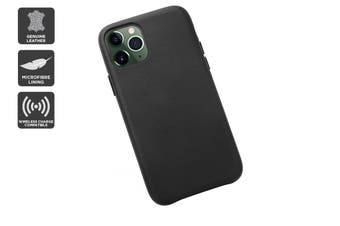 iPhone 11 Pro Premium Leather Case (Black)
