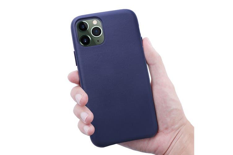 iPhone 11 Pro Max Premium Leather Case (Navy)