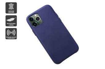 iPhone 11 Pro Premium Leather Case (Navy)
