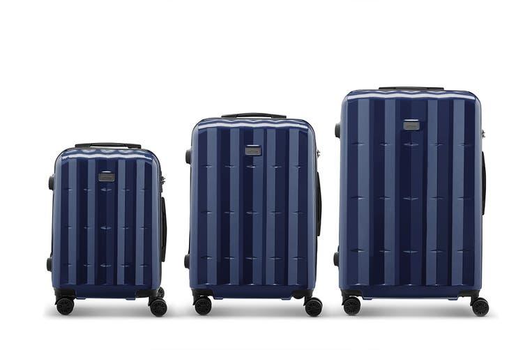 Orbis 3 Piece Azores Spinner Luggage Set (Navy)