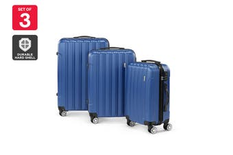 Orbis ABS 3 Piece Luggage Set (Blue)