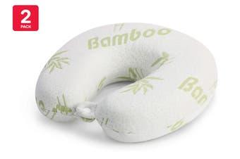 Orbis Bamboo Memory Foam Travel Pillow (2 Pack)