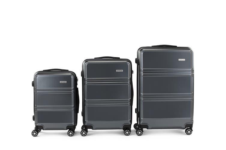 Orbis 3 Piece Kuredu Spinner Luggage Set (Charcoal)