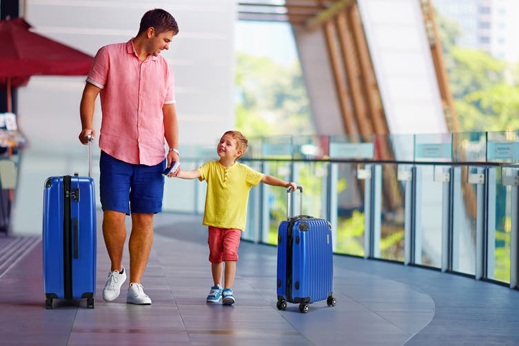 Orbis 3 Piece Tahiti Spinner Luggage Set (Blue)