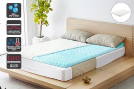 Ovela 7 Zone 8cm Thick Cool Gel Memory Foam Mattress Topper with Bamboo Cover