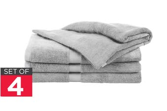 Ovela Set of 4 Bamboo Cotton Luxury Bath Sheets (Light Grey)