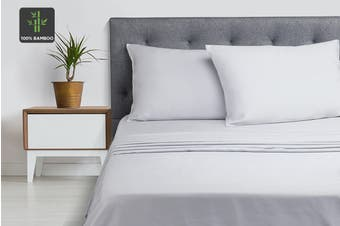 Ovela 100% Bamboo Bed Sheet Set (King, Pale Grey)