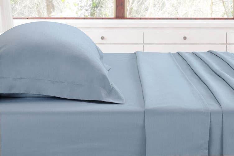 Ovela 1000TC Cotton Rich Luxury Bed Sheet Set (Queen, Slate Blue)