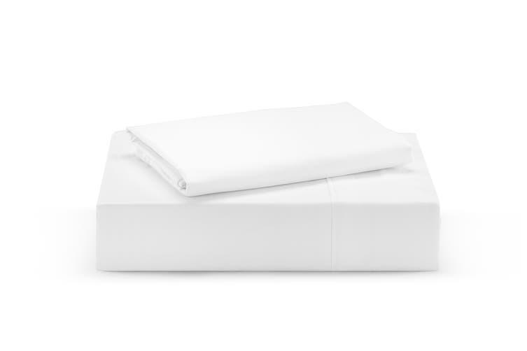 Ovela 100% Organic Cotton Bed Sheet Set (Queen, White)