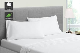 Ovela 100% Organic Cotton Bed Sheet Set (Queen, White)