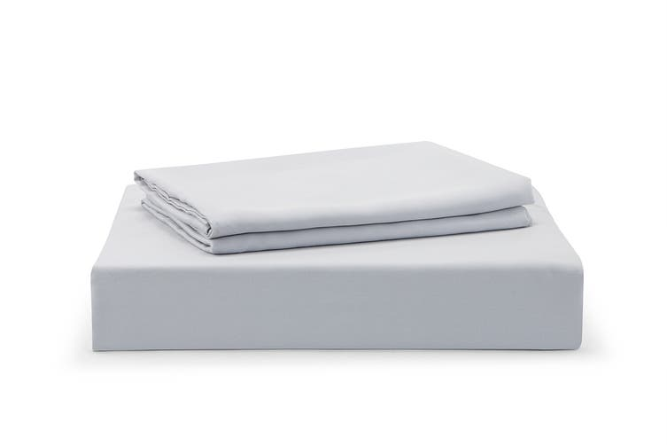 Ovela 100% Tencel™ Bed Sheet Set (Double, Pale Grey)