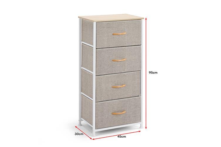 Ovela 4 Drawer Storage Chest (Beige)